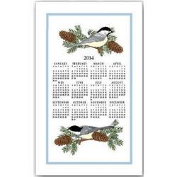 2014 Chickadees Linen Calendar Towel