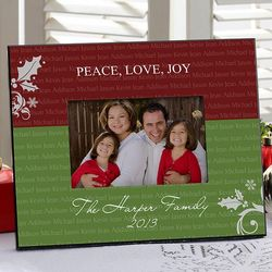 Family is Forever Personalized Christmas Picture Frame