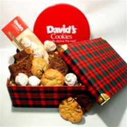 Plaid Christmas Treats Box