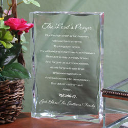 The Lord's Prayer Personalized Plaque