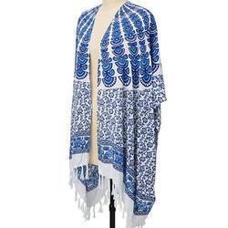 Fringe Indigo Kimono