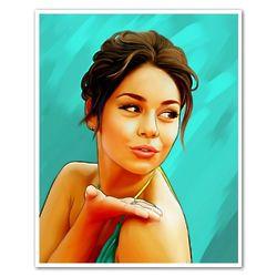 Vanessa Hudgens Blowing a Kiss Pop Art Print