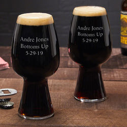 2 Personalized Stout Glasses
