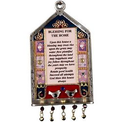 English Home Blessing Plaque