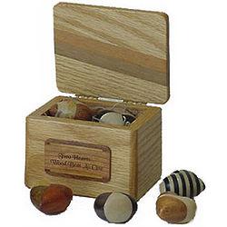 Wood Hearts Treasure Chest