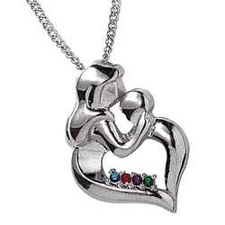Sterling Silver Mother's Embrace Pendant