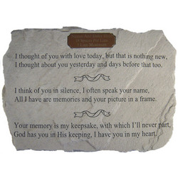 Personalized 'I Thought of You with Love Today' Memorial Stone