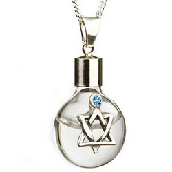 Glass Star of David Pendant