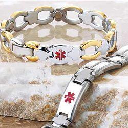 Diabetic Magnetic Medical ID Bracelet
