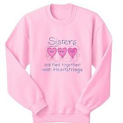 Personalized Heartstrings Pink Sweatshirt