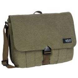 Olive Medium Laptop Shoulder Bag