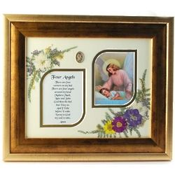 Children's Four Angels Golden Framed Print