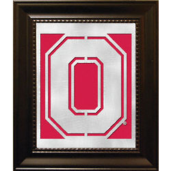 Ohio State Buckeyes Laser Cut Logo Framed Wall Art
