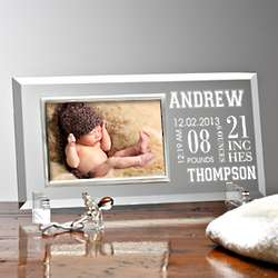 Baby's Big Day Personalized Reflections Frame