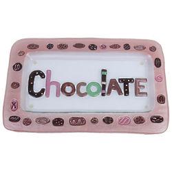 Pink Glass Chocolate Platter