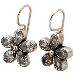 Quartz Crystal Flower Earrings