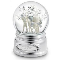 Horse and Foal Musical Snow Globe