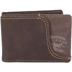 Men's Leather Money Clip Bifold Wallet with Front Pocket