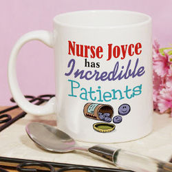 "Personalized ""Incredible Patients"" Nurse Coffee Mug"