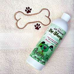 Embroidered Dog Bath Towel and All-Natural Shampoo Set