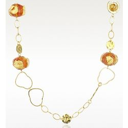 Eldorado Murano Glass Stone Chain Necklace