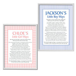Personalized Boy Ways and Girls Ways Framed Canvas