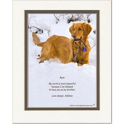 Personalized Friend or Family Poem Dog in Snow Print