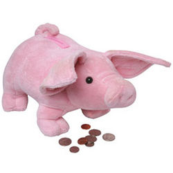 Animated Plush Squealing Piggy Bank