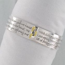 Inspirational Footprints Cuff Bracelet
