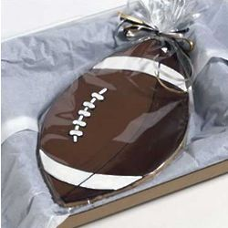 Big Football Decorated Cookie