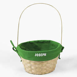 Personalized Basket with Green Liner