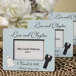 Personalized Bride and Groom Mini Frame Wedding Favor