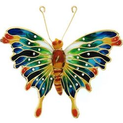 Multicolored Metal Butterfly Ornament