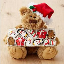 Holiday Bear with 10 Mini Cookies
