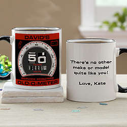 Birthday Old-O-Meter Personalized Mug