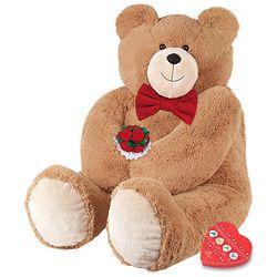 Big Hunka Love Teddy Bear with Bowtie, Roses and Chocolate