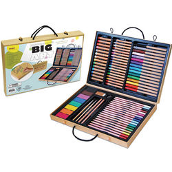 80-Piece Art Supply Set with Various Media and Tools