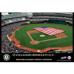 Personalized 12x18 Oakland A's Stadium Canvas