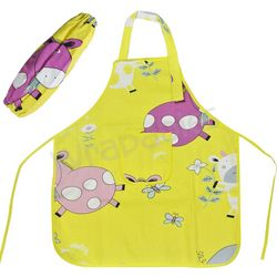 Silly Cow Yellow Kid's Apron with Arm Covers