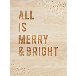 All is Merry and Bright Wooden Wall Art