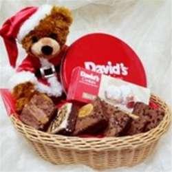 Christmas Bear with Goodies Basket