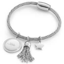 Engravable Star and Tassel Graduation Bracelet