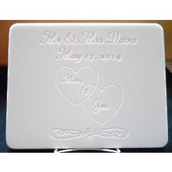Personalized Wedding Hearts Cutting Board