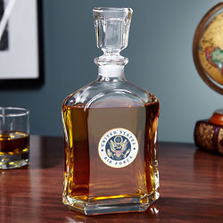 Personalized US Air Force Crested Liquor Decanter