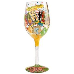 November Birthday Wine Glass