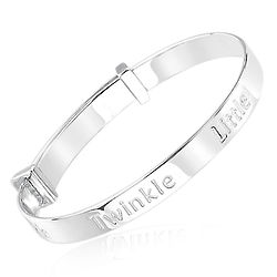 Children's Twinkle Twinkle Little Star Diamond and Silver Bangle
