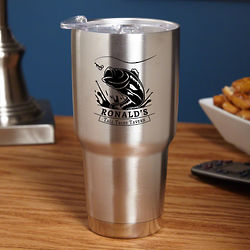 Personalized Big Catch Stainless Steel Tumbler