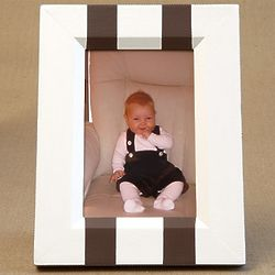 Hand Painted Two Stripes Vertical 4x6 Picture Frame