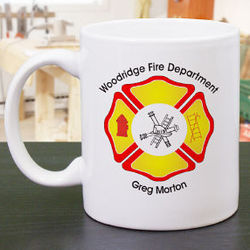 Personalized Fire Department Coffee Mug