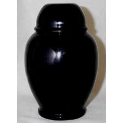 Decorative Black Marble Ginger Jar